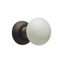 644R/ GIR knopkruk op rozet 651 rechts draaibaar antiekbrons