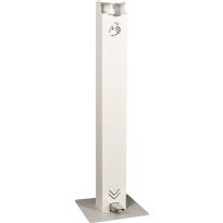 Anti-corona zeepdispenser zuil met voetbediening