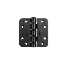 AXA Smart Easyfix scharnier ronde hoek 89 x 89 mm zwart