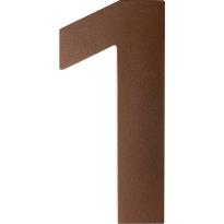 Bronze blend huisnummer 1 plat, 150 mm