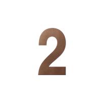 Bronze blend huisnummer 2 L, 200 mm