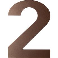 Bronze blend huisnummer 2 plat, 150 mm