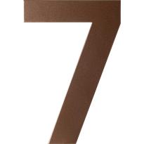 Bronze blend huisnummer 7 plat, 150 mm