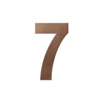 Bronze blend huisnummer 7 XL, 250 mm