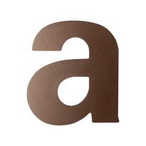 Bronze blend letter A plat, 110 mm