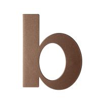 Bronze blend letter B plat, 110 mm