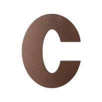Bronze blend letter C plat, 110 mm