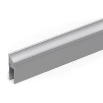 Cassette/houderprofiel voor valdorpel 1000 mm, RVS geborsteld