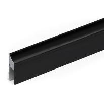 Cassette/houderprofiel voor valdorpel 1000 mm, zwart