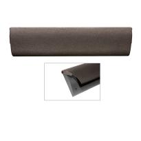 CC Briefplaat binnen met kunststof houder en luxe RVS klep in finish Dark blend