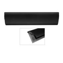 CC Briefplaat binnen met kunststof houder en luxe RVS klep voorzien van zwarte poedercoating