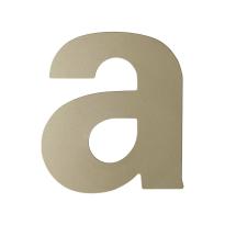 Champagne blend letter A plat, 110 mm