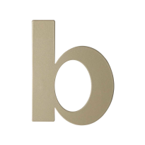 Champagne blend letter B plat, 110 mm