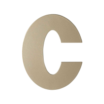 Champagne blend letter C plat, 110 mm