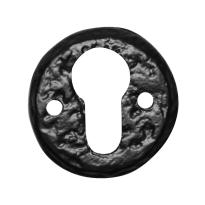 Cilinderrozet KP1401 50mm smeedijzer zwart