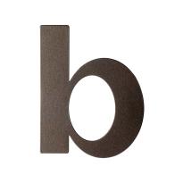 Dark blend letter B plat, 110 mm