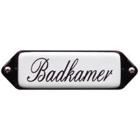 Deurbordje emaille 'Badkamer' model oor