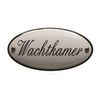 Deurbordje emaille 'Wachtkamer' ovaal