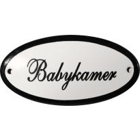 Deurbordje ovaal  'Babykamer', emaille