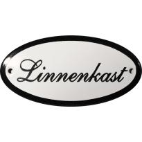 Deurbordje ovaal  'Linnenkast', emaille