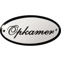 Deurbordje ovaal  'Opkamer', emaille