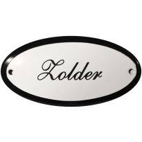 Deurbordje ovaal  'Zolder', emaille
