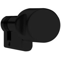 DOM Plura profielcilinder SKG**, halve knopcilinder zwart