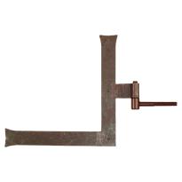 Duimheng met roest rechts 40x300x300 mm