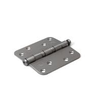 Dulimex kogellagerscharnier enkelwerkend ronde hoeken RVS, 89x89 mm