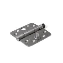 Dulimex kogellagerscharnier veiligheidsuitvoering enkelwerkend ronde hoeken RVS, 89 x 89 mm