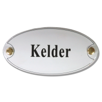 Emaille deurbordje 'Kelder'