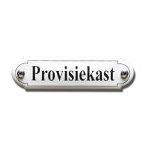 Emaille deurbordje 'Provisiekast' gebold klassiek