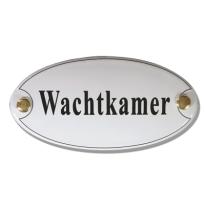 Emaille deurbordje 'Wachtkamer'