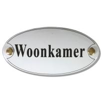 Emaille deurbordje 'Woonkamer'