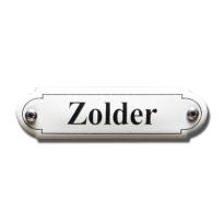 Emaille deurbordje 'Zolder' gebold klassiek