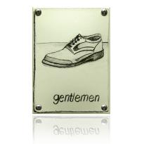 Emaille 'Herentoilet' pictogram rechthoekig