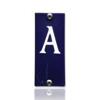 Emaille huisnummer A blauw, 40 x 100 mm