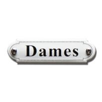 Emaille toilet bordje 'Damestoilet' gebold klassiek