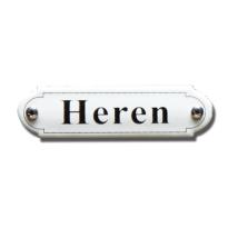 Emaille toilet bordje 'Herentoilet' gebold klassiek
