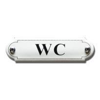 Emaille toilet bordje 'WC' gebold klassiek