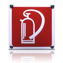 Emaille veiligheidsbord pictogram 'Brandblusser' vierkant