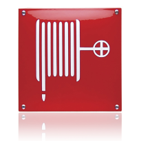 Emaille veiligheidsbord pictogram 'Brandhaspel' vierkant