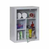 Filex security medicijnkast met glazen deur, grijs