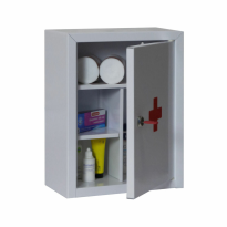 Filex security medicijnkast met metalen deur, grijs