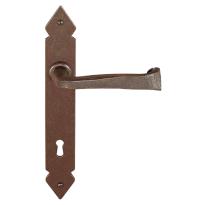 FM375 M deurkruk op schild geveerd