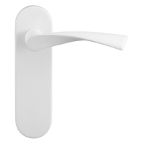 GPF8227.50 Kino deurkruk op kortschild wit