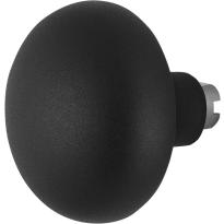 GPF8849.61 Paddenstoel knop veiligheidsschilden vast 65mm zwart