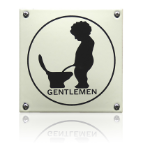 'Herentoilet' emaille pictogram vierkant