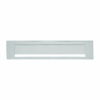 Hoppe 403 aluminium F1 rechthoekige briefplaat, 73x338mm