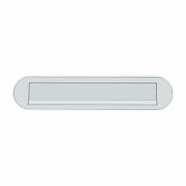 Hoppe aluminium F1 curved briefplaat 73x350mm, klep met veermechanisme